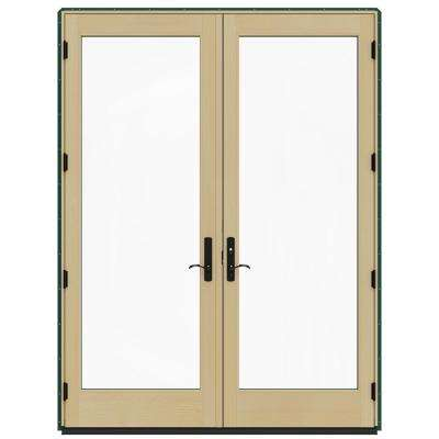 72 in. x 96 in. W-4500 Green Clad Wood Left-Hand Full Lite French Patio Door w/Lacquered Interior