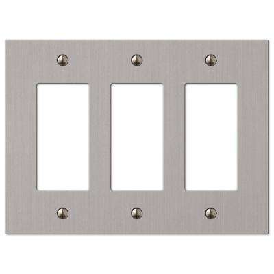 Elan 3 Decorator Wall Plate - Brushed Nickel
