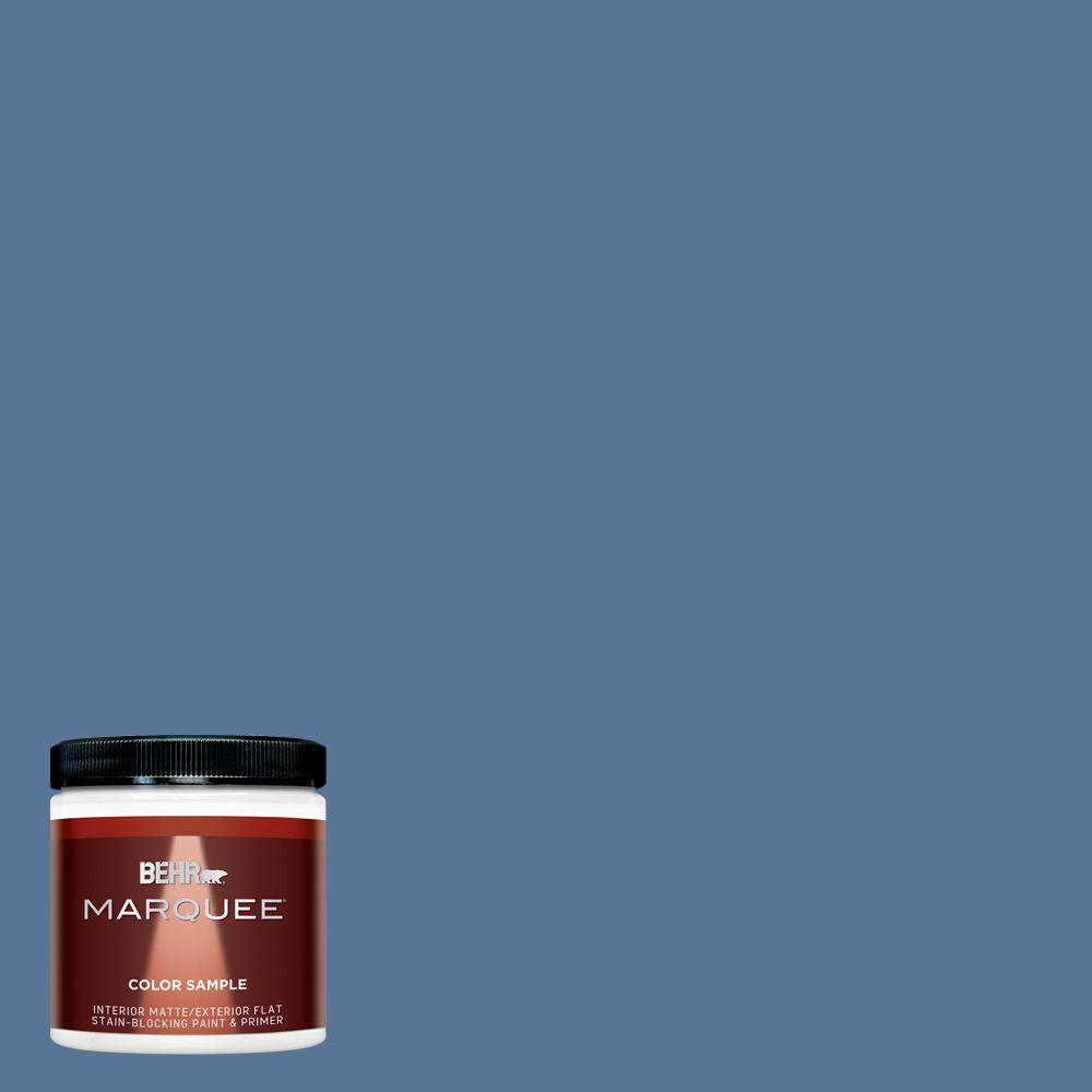BEHR MARQUEE 8 oz. #MQ5-53 Privileged Elite Matte Interior/Exterior Paint and Primer Sample