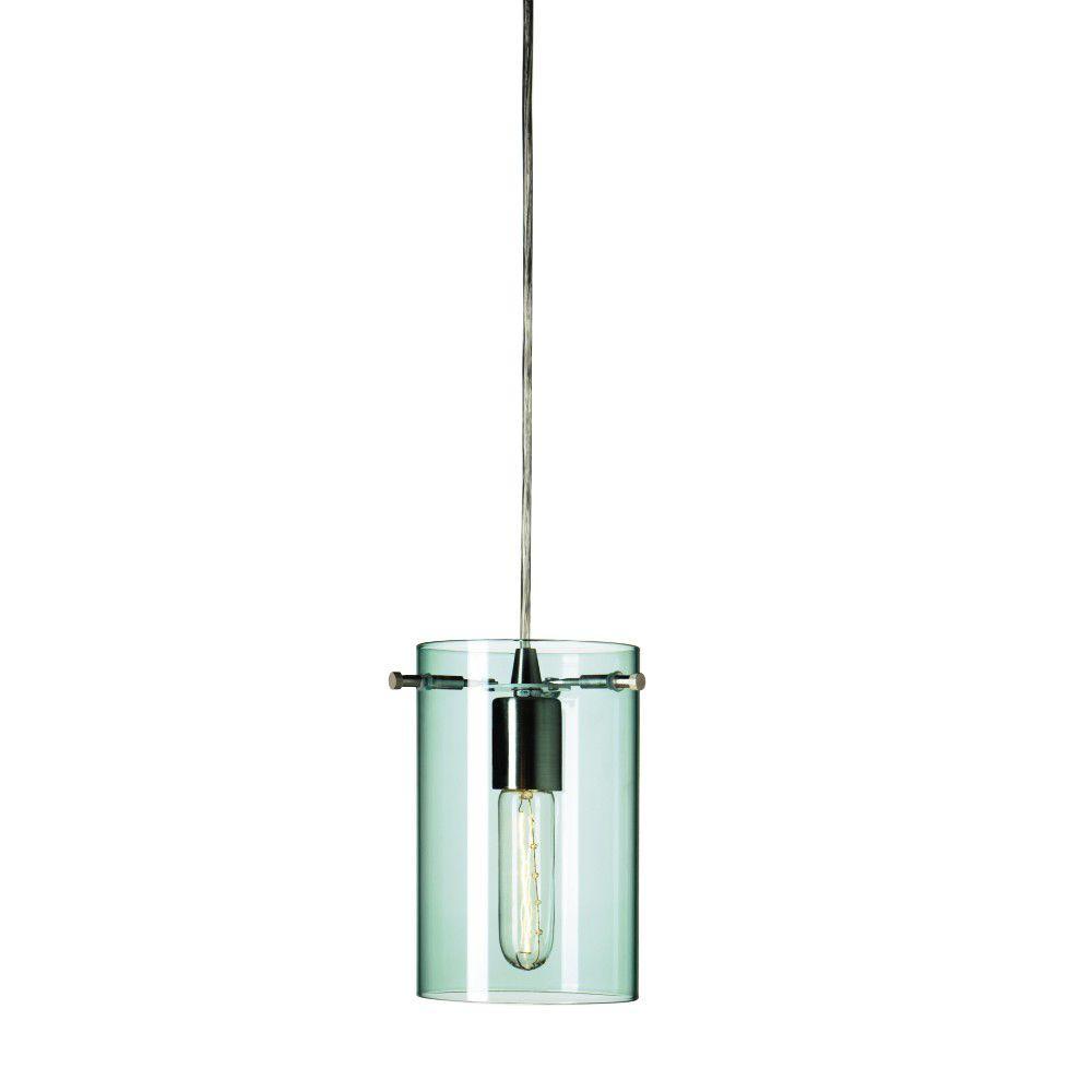 Home Decorators Collection Figment 5 in. Aqua Hardwire Pendant
