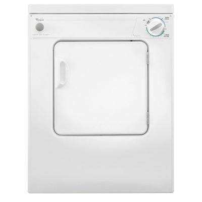 3.4 cu. ft. 120-Volt White Compact Electric Vented Dryer with Flexible Installation
