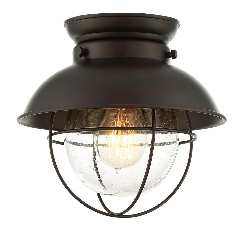 Filament Design 1 Light Oil Rubbed Bronze Flushmount CLI