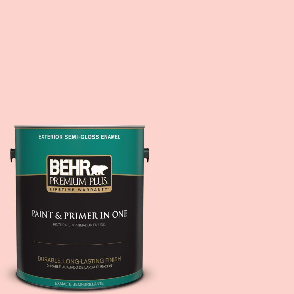 BEHR Premium Plus 1-gal. #190A-2 Coral Mantle Semi-Gloss Enamel Exterior Paint