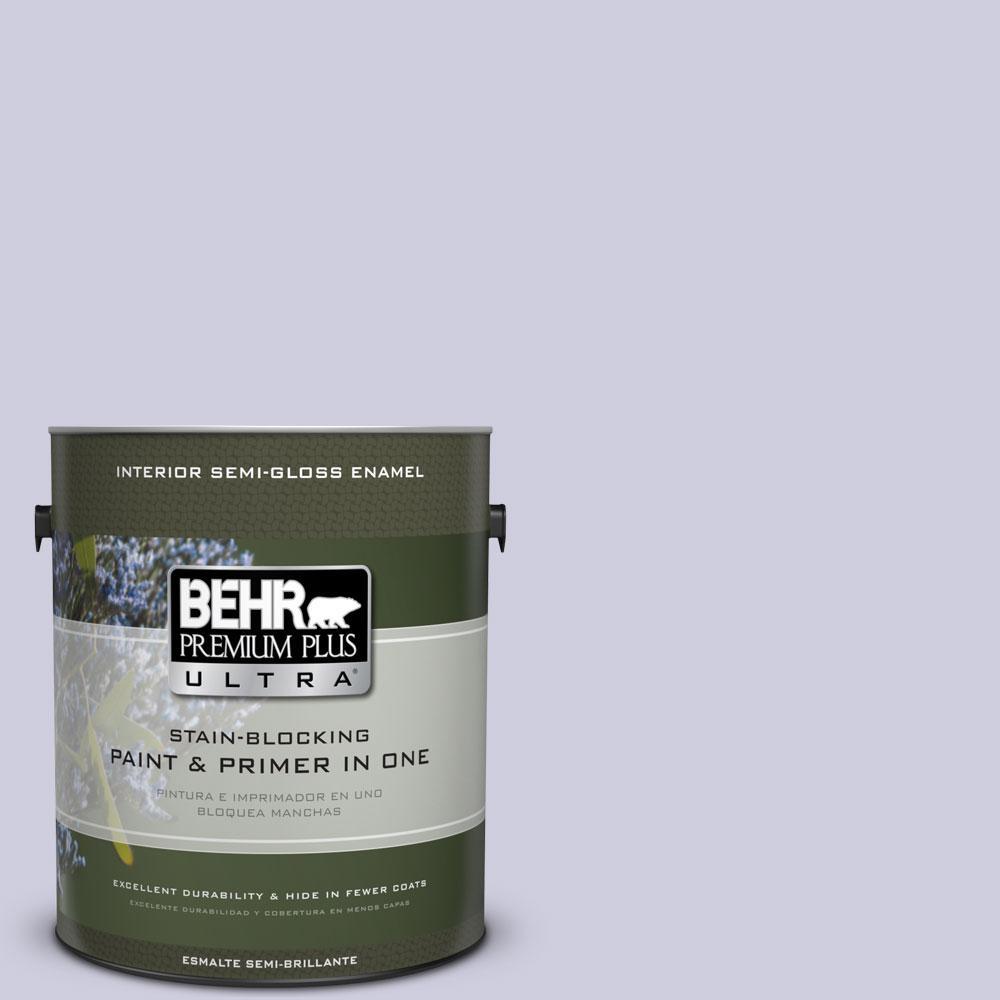 1-gal. #640C-2 Lavender Sparkle Semi-Gloss Enamel Interior Paint