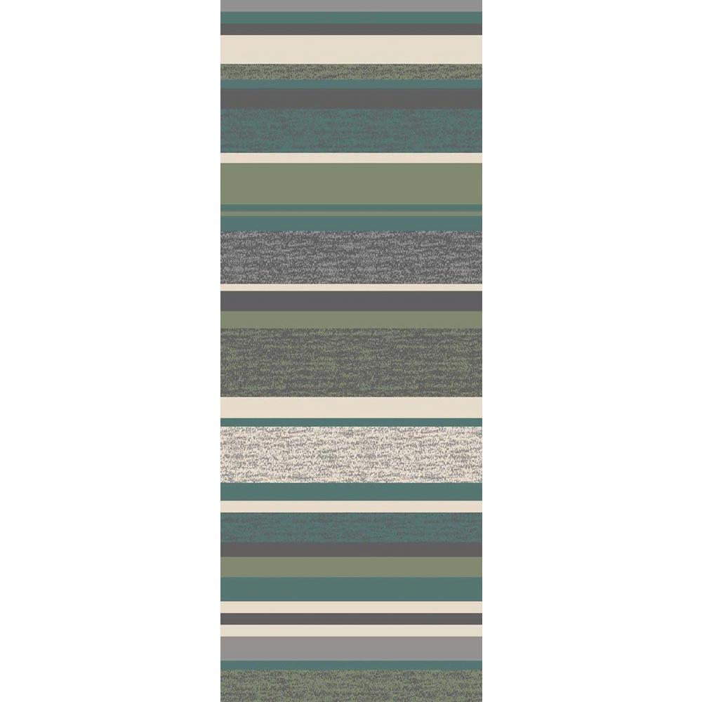 Hamam Collection Green 2 ft. x 7 ft. Runner Rug