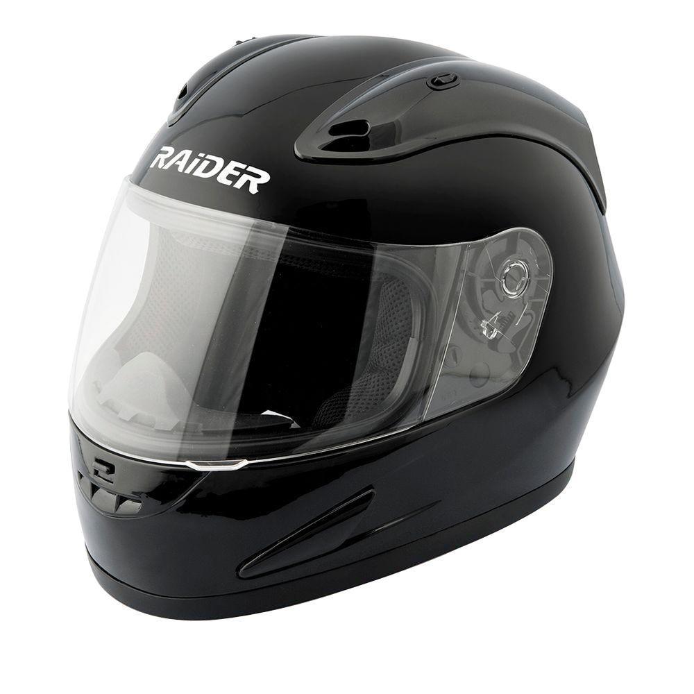 Raider X-Large Adult Flat Black Full Face Helmet