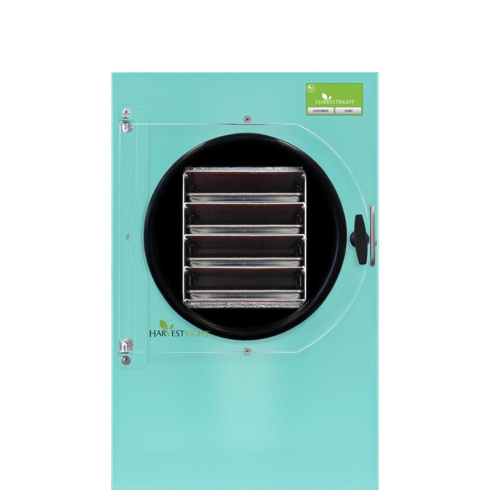 4-Tray Medium Aqua Aluminum Freeze Dryer with Mylar Starter Kit