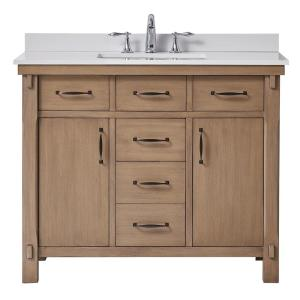 Deals on Home Decorators Bellington 42 in. W x 22 in. D Vanity w/Sink
