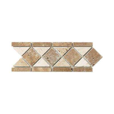 Tumbled Noce Listello 4.125 in. x 11 in. x 10 mm Travertine Decorative Accent Floor/Wall Tile