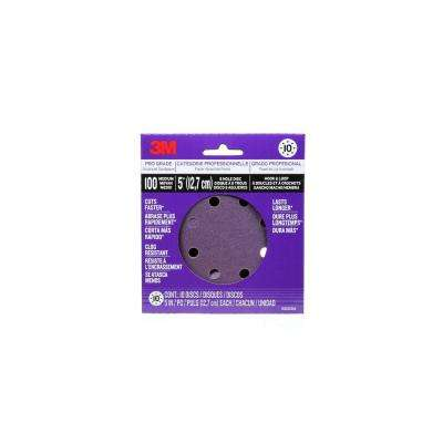 Pro Grade Sanding Discs 5 in. x 8 Hole 100 Grit (10-Pack)