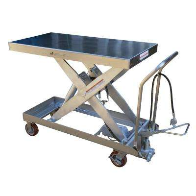 2,000 lbs. 24 in. x 54 in. Hydraulic Steel Cart