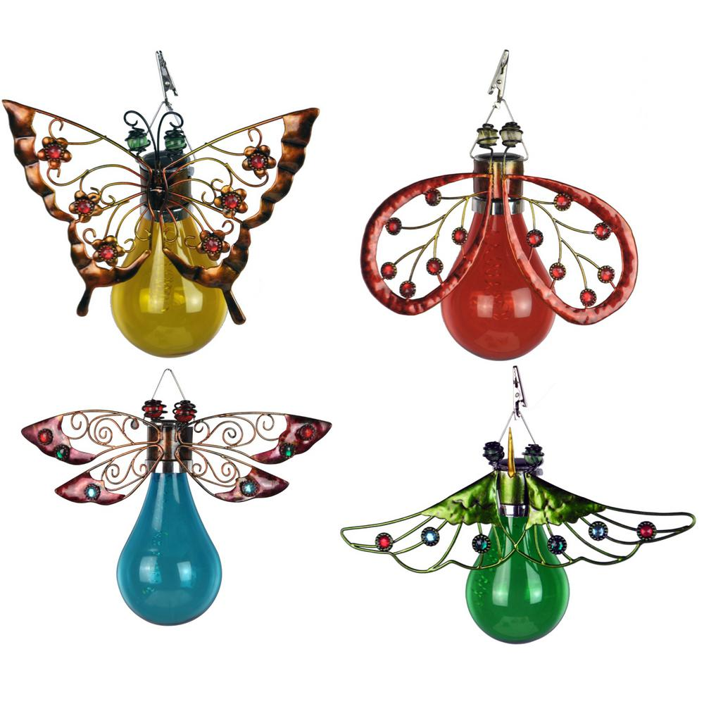 Merveilleux Moonrays Solar Powered Integrated LED Butterfly, Moth, Ladybug, And  Dragonfly Outdoor Patio Lights