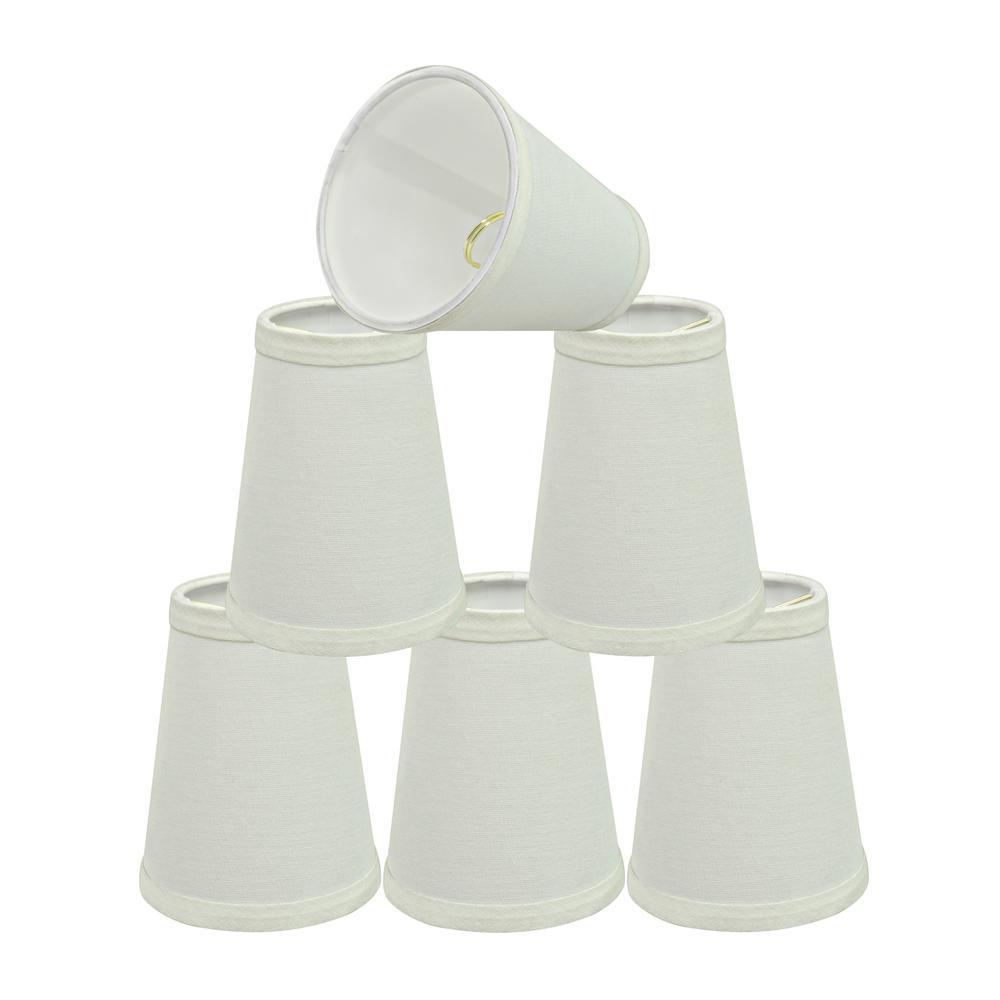 4 in. x 5 in. Off White Hardback Empire Lamp Shade (6-Pack)