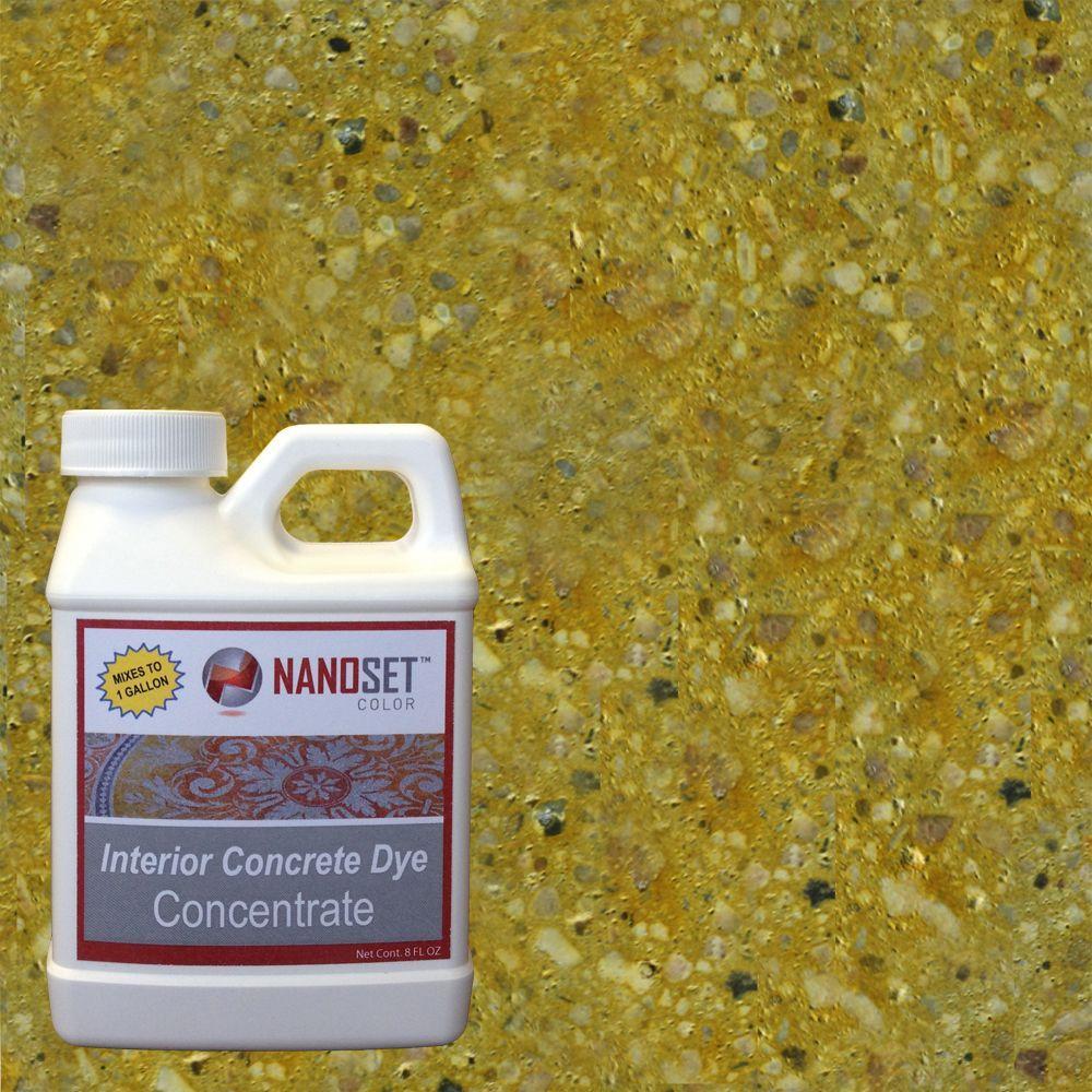 NanoSet Color 8-oz. Citrine Interior Concrete Dye Stain Concentrate