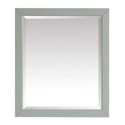 Windlowe 28 in. x 32 in. Framed Mirror in Sea Green