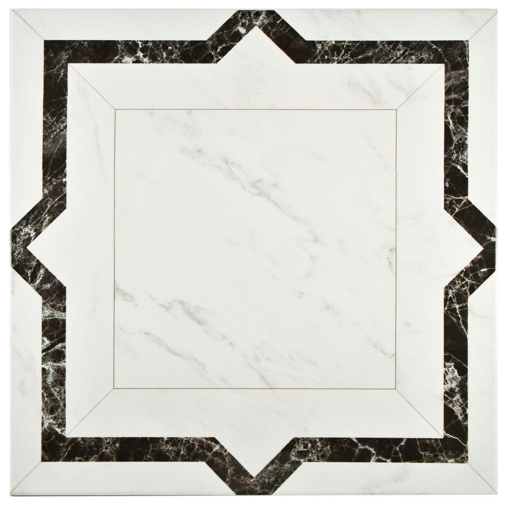 Merola Tile Royal Jet Gris 17-3/4 in. x 17-3/4 in. Ceramic Floor and Wall Tile (11.3 sq. ft. / case)