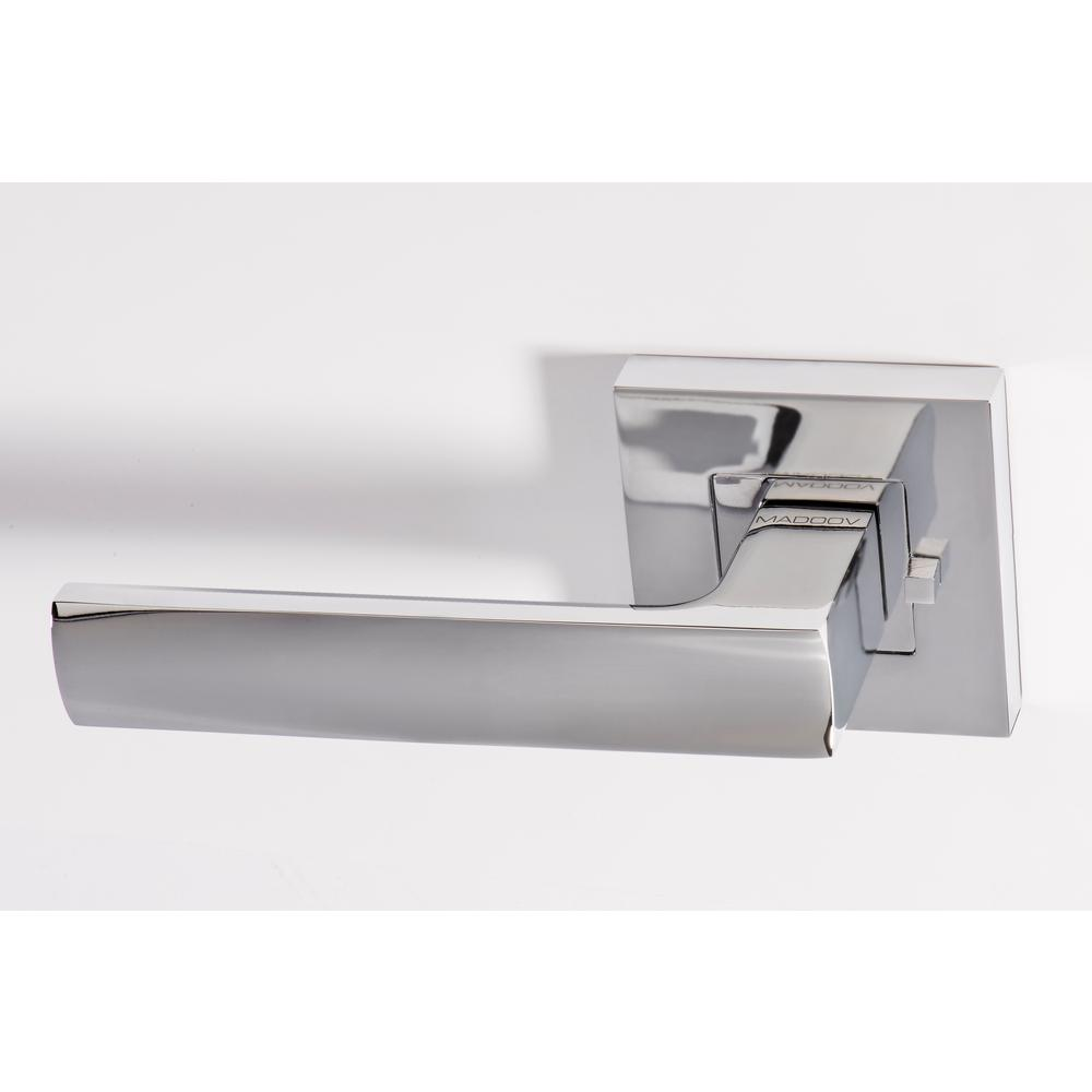 Monaco Contemporary Polished Chrome Privacy Bed Bath Door Lever Handle Set 3386c The Home Depot