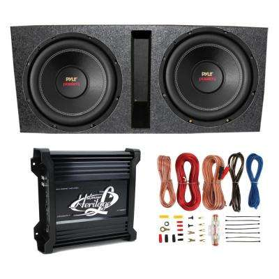 "15"" Subwoofers (2) + Vented Box + Lanzar 2 Channel Amp + Wiring Kit"