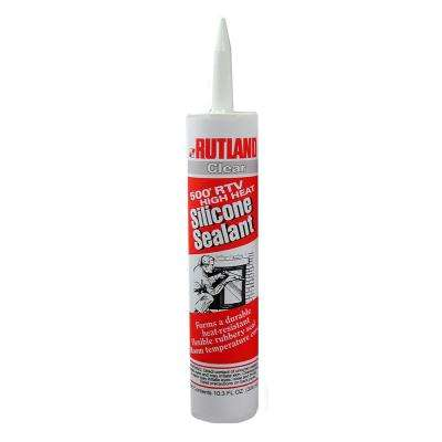 10.3 fl. oz. 500°F RTV High Heat Silicone (Clear) Cartridge
