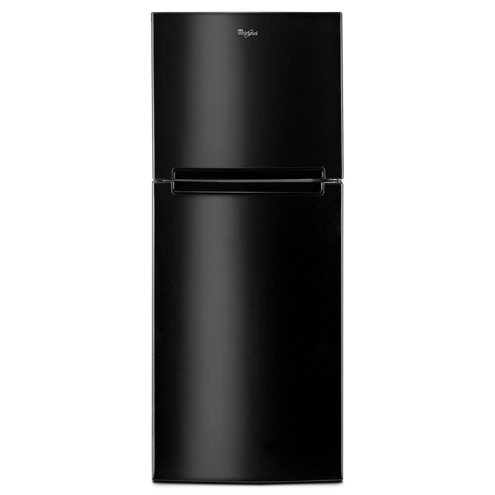 Whirlpool 10.7 cu. ft. Top Freezer Refrigerator in Black