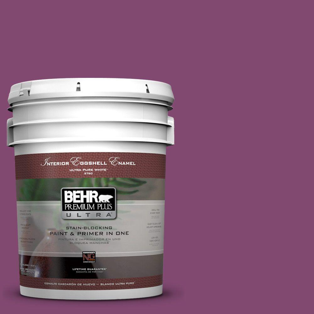 BEHR Premium Plus Ultra 5 gal. #680B-7 Sugar Plum Eggshell Enamel Interior Paint and Primer in One