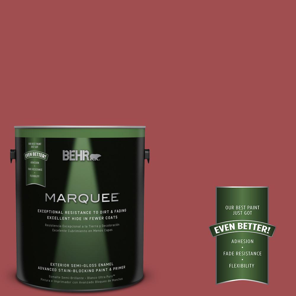 1-gal. #M150-7 Sweet Cherry Semi-Gloss Enamel Exterior Paint