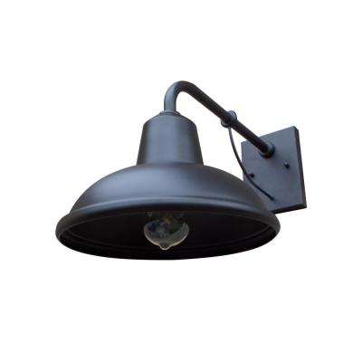 Tanner 1-Light Black Outdoor Wall Mount Sconce