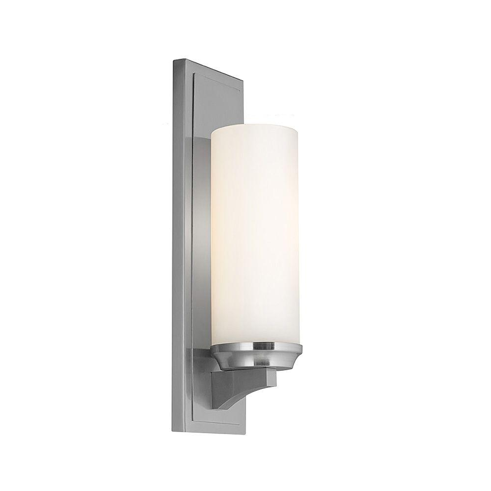 Amalia 1-Light Brushed Steel Wall Bracket