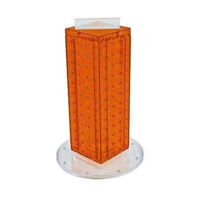 12 in. H x 4 in. W Pegboard Tower with 16-Gift Pockets in Orange