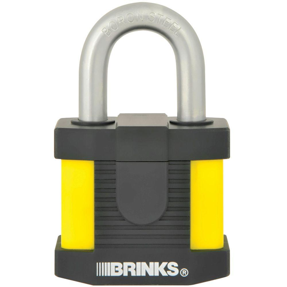 Brinks 50 mm Laminated Steel Commercial Padlock with Weather Resistance