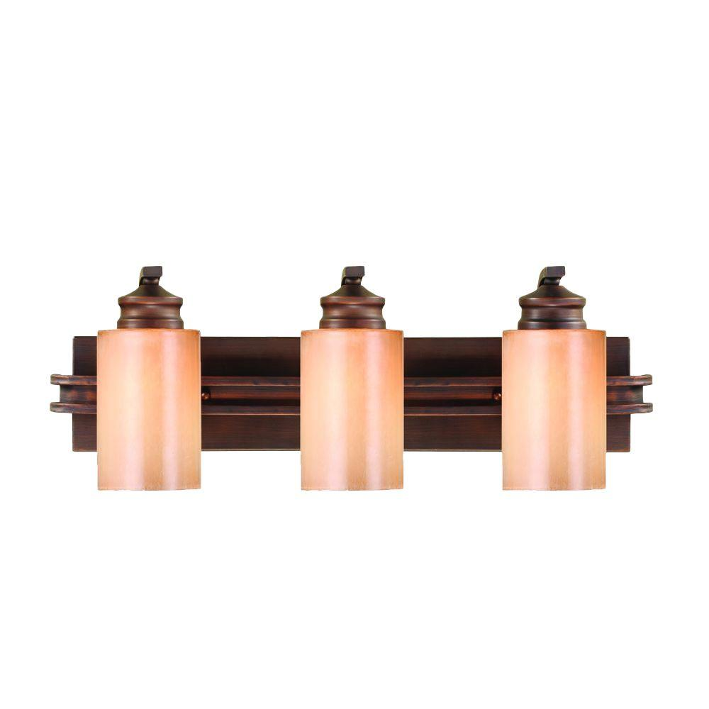 Hidalgo Collection 3-Light Sovereign Bronze Bath Vanity Light
