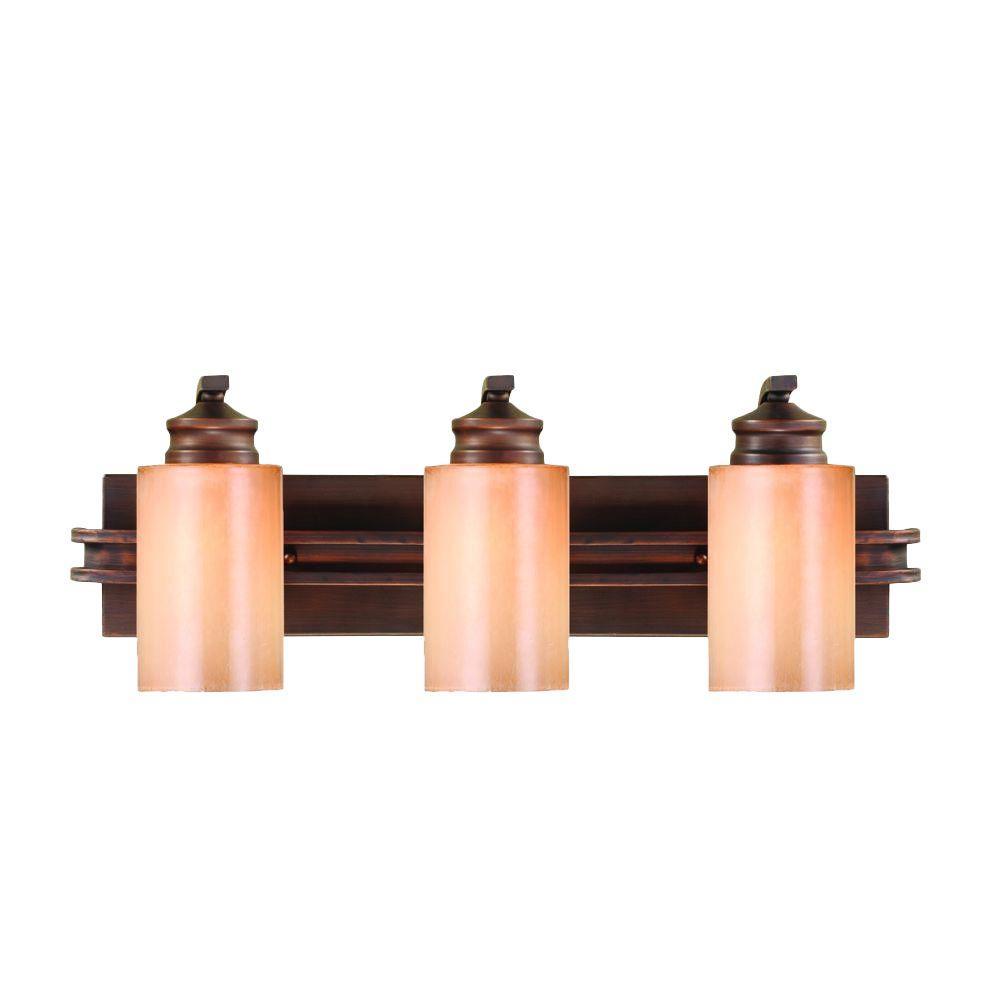 Hidalgo Collection 3-Light Sovereign Bronze Bath Vanity Light