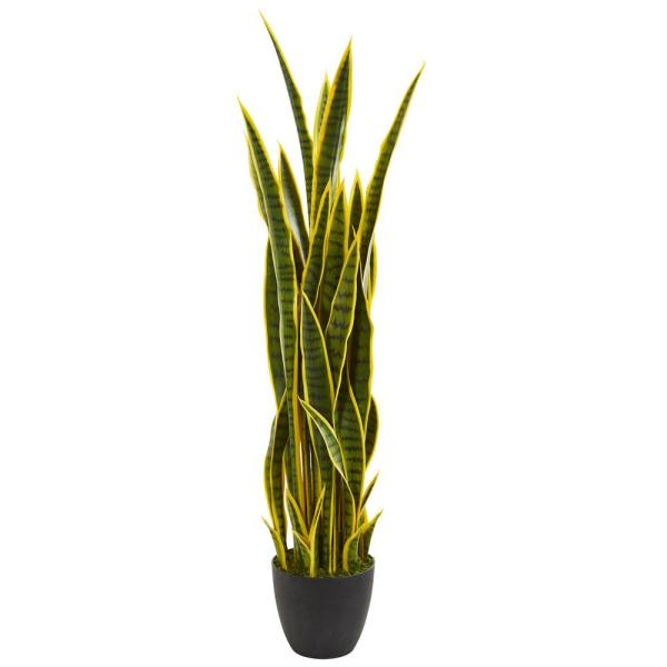 Nearly Natural Indoor 4 in. Sansevieria Artificial Plant