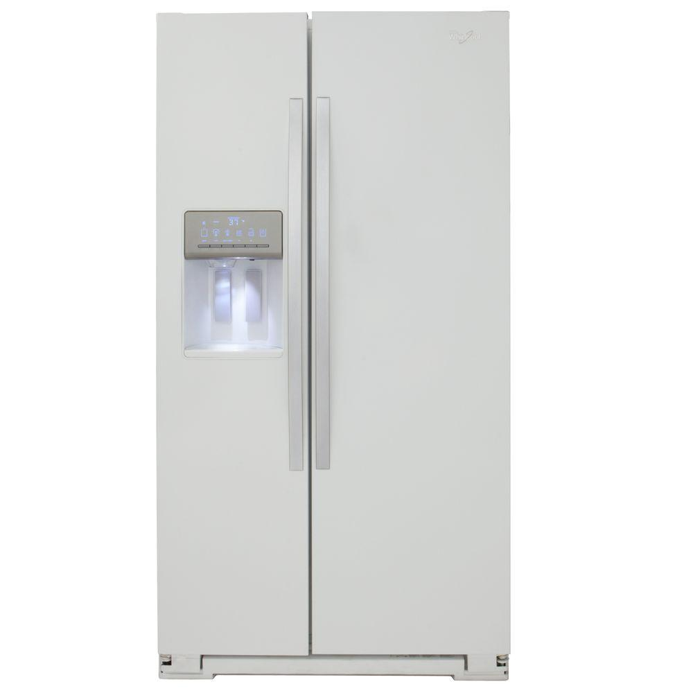 Whirlpool 26.4 cu. ft. Side by Side Refrigerator in White Ice