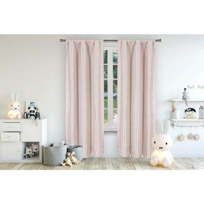 Miranda 37 in. x 63 in. L Polyester Blackout Curtain Panel in Pretty Pink (2-Pack)