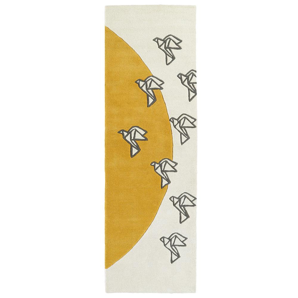 Origami Ivory 3 ft. x 8 ft. Runner Rug