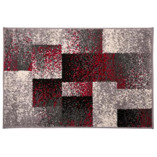 Contemporary Distressed Bo Red 2 Ft