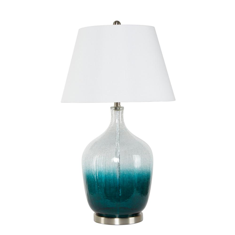Silverwood Ayla 32 in. Green Ombre Glass Table Lamp