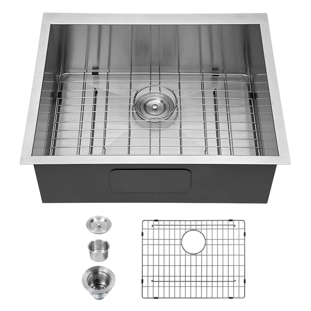Boyel Living 25 In Undermount Sink Deep Single Bowl Sink 22 Gauge Stainless Steel Kitchen Sink Sl Lmu25229a1 The Home Depot