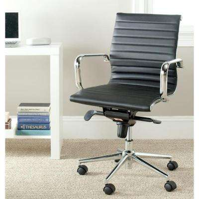 Loreley Black Leather Office Chair