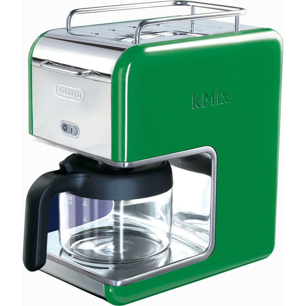 DeLonghi kMix 5-Cup Coffee Maker in Green-DISCONTINUED