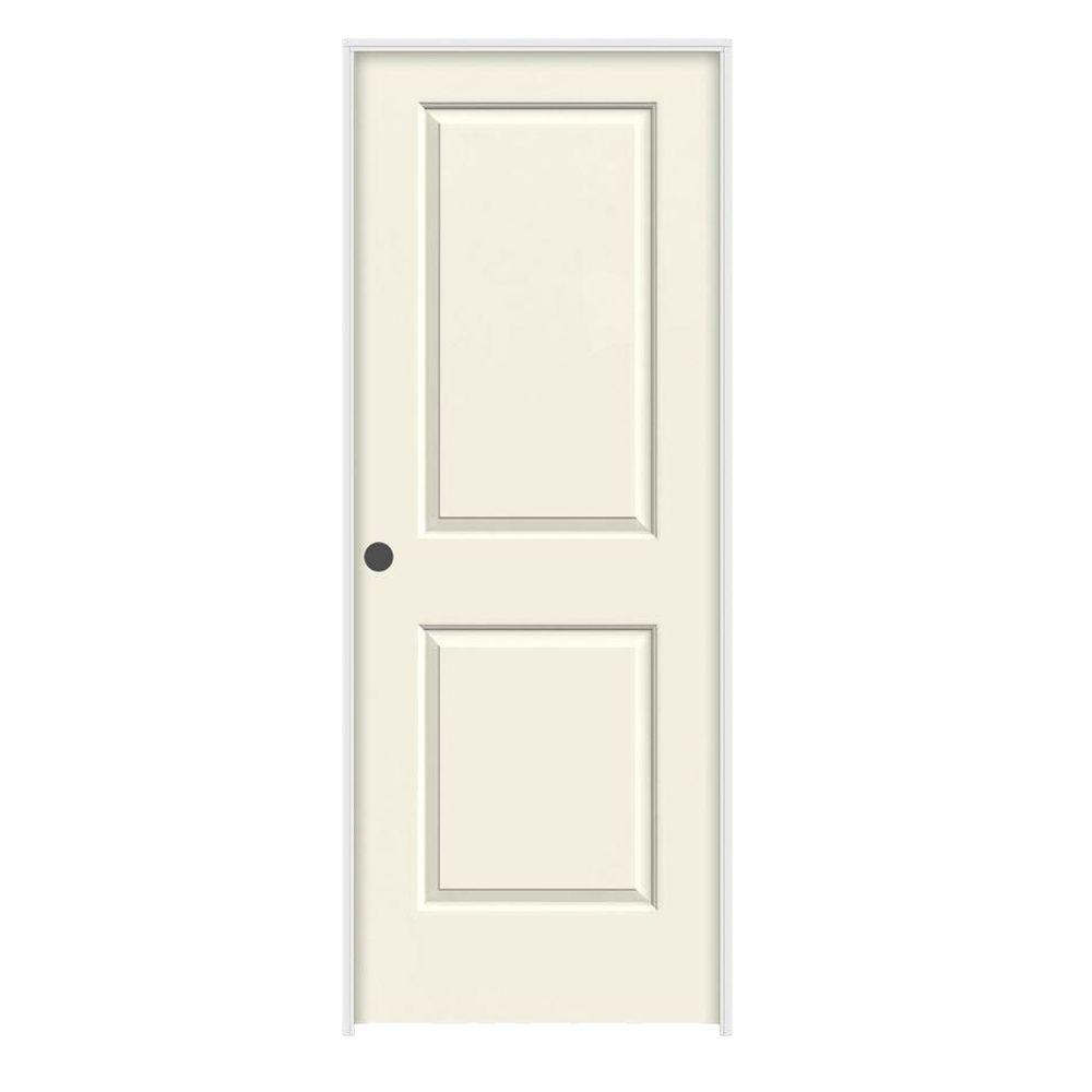 24 in. x 80 in. Cambridge Vanilla Painted Right-Hand Smooth Solid