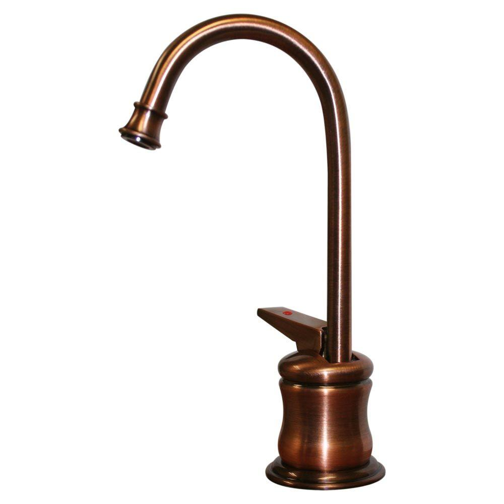 Whitehaus Collection Forever Hot Single-Handle Instant Hot Water Dispenser Faucet in Antique Copper