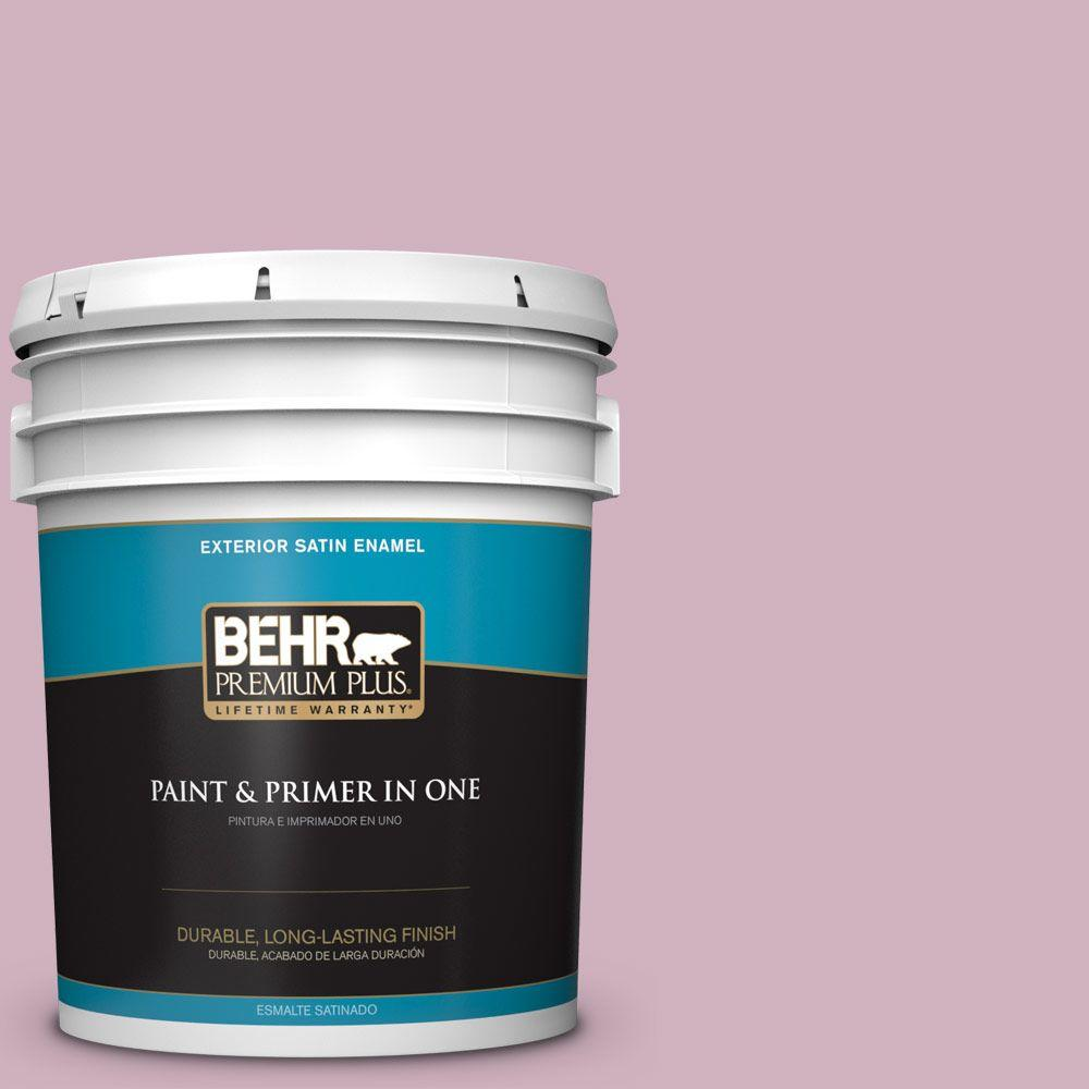 BEHR Premium Plus 5-gal. #S120-3 Candlelight Dinner Satin Enamel Exterior Paint