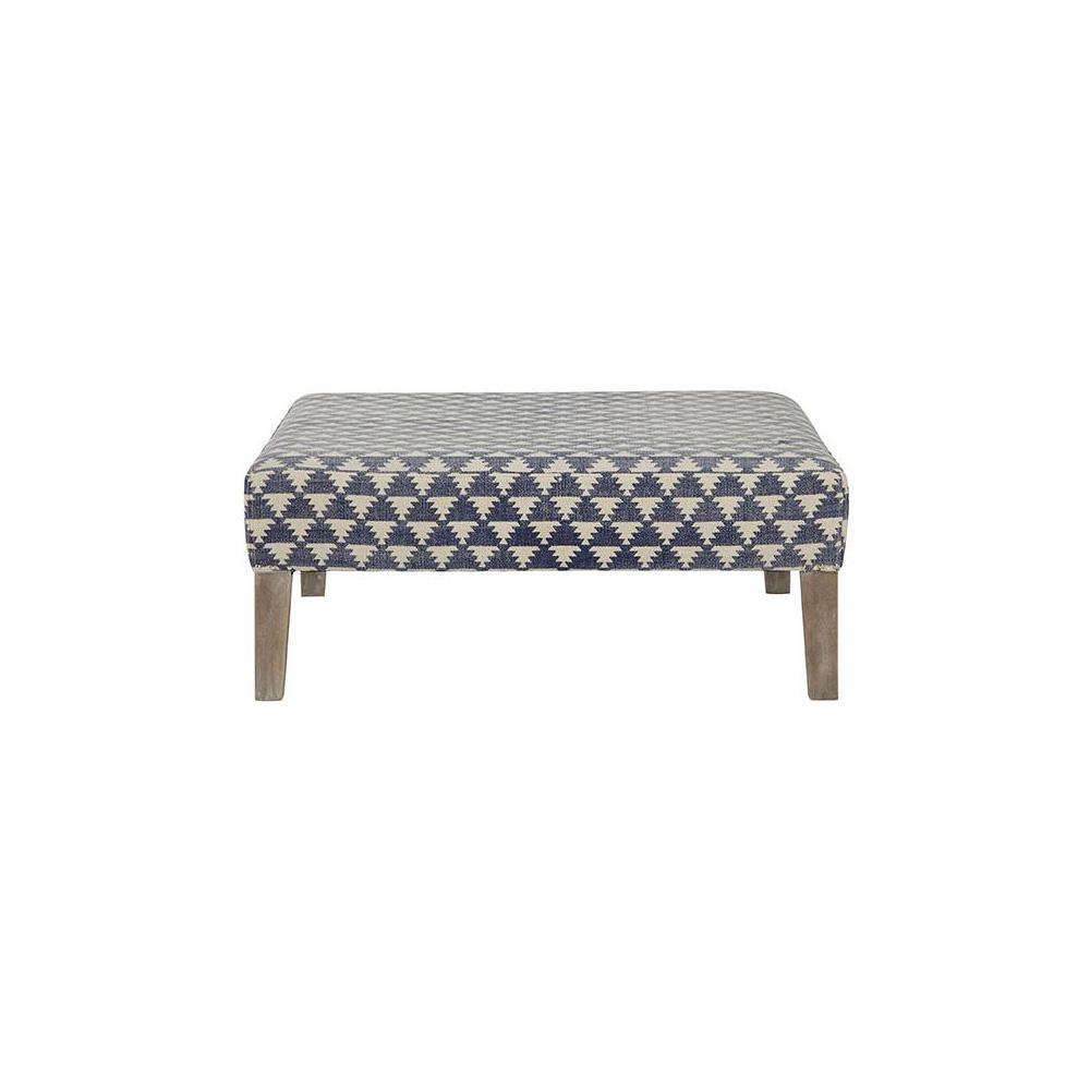 Home Decorators Collection Lira Acute Indigo Accent Ottoman
