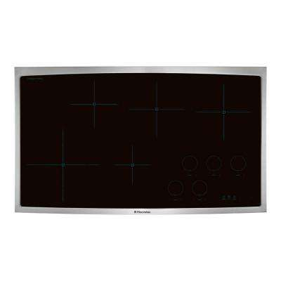 36 in. Smooth Surface Induction Cooktop in Stainless Steel with 5 Elements
