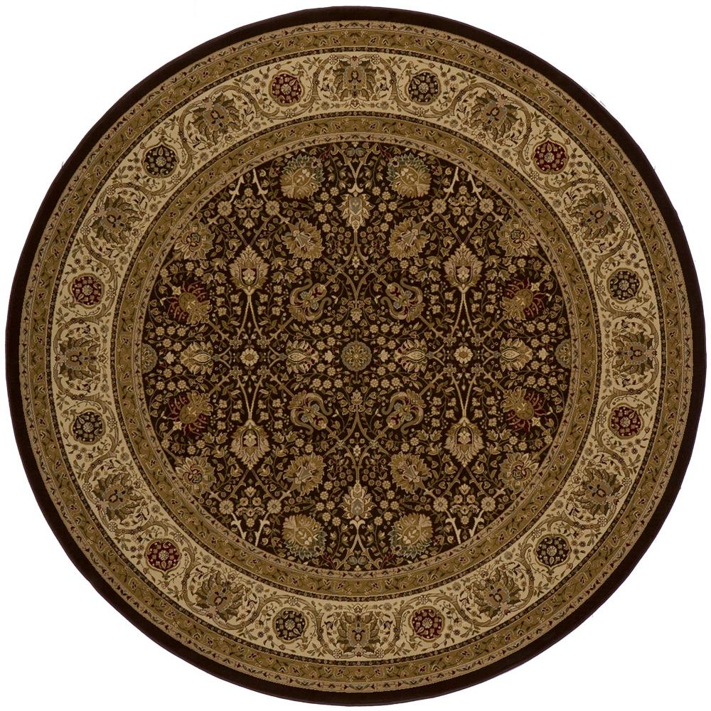 Momeni Lovely Brown 7 ft. 10 in. x 7 ft. 10 in. Round Area Rug