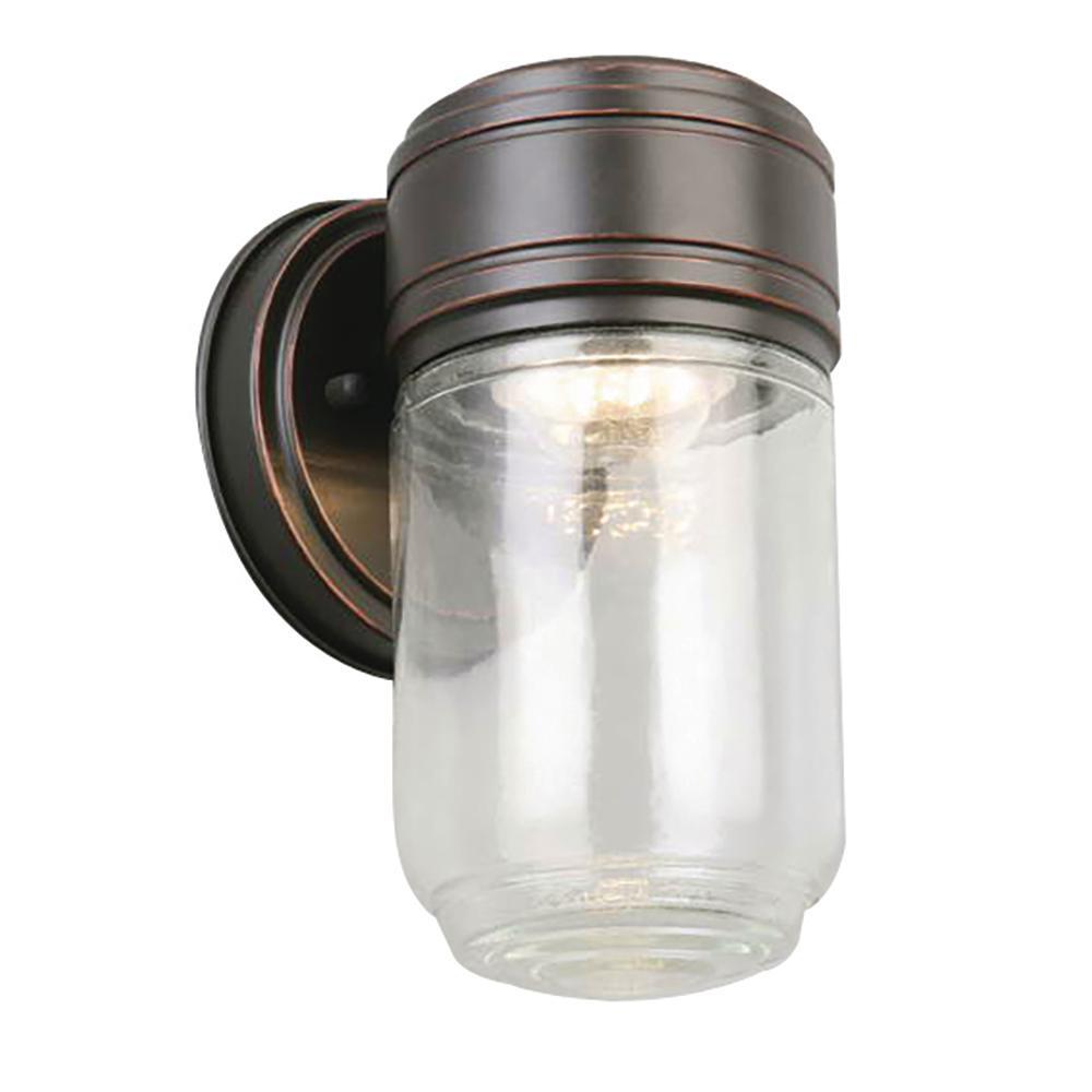 Harris 8-Watt Oil Rubbed Bronze Integrated LED Outdoor Wall Lantern Sconce