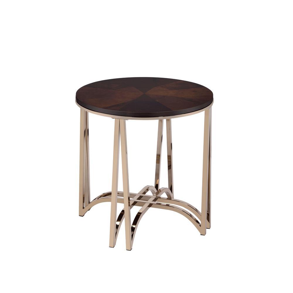 Amelia Walnut Round Leg End Table