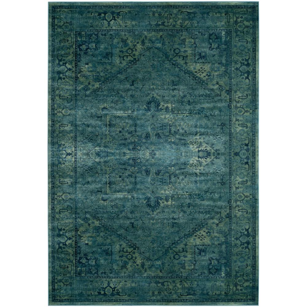 Vintage Turquoise 9 Ft X 12 Area Rug